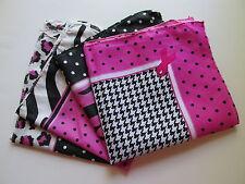 12 PINK RIBBON pink black BANDANNAS BANDANAS FREE S/H Breast Cancer Awareness