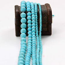 Lots 20-100Pcs Howlite Turquoise Gemstone Round Loose Beads Jewelry 4 6 8 10 mm