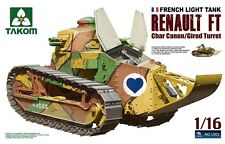 Takom Model kit 1/16 French Light Tank Renault FT Char Canon with Girod Turret