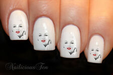 Marilyn Monroe Nail Art Wraps Water Transfers 21pcs Celebrity Style Decals 8108