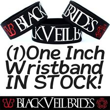 Black Veil Brides Wristband One Inch Wide Black Bracelet For BVB Music Fans