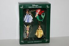 Disney's Christmas Collection Miniature Ornament Set Tinker Bell, Jasmine, Ariel