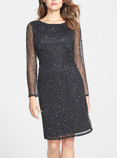 Patra New Long-Sleeve Beaded Sequin Dress   #A 324