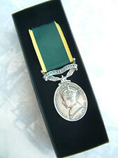 WW2 GVI ARMY MILITARY EFFICIENCY MEDAL TERRITORIAL BAR WORLD WAR TWO BOXED