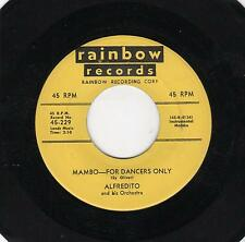 RED HOT MAMBO!-ALFREDITO-RAINBOW-229-MAMBO-FOR DANCERS ONLY/QUIEN SERA