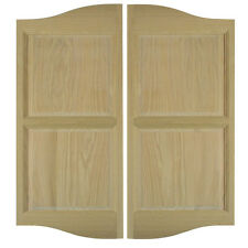 "Custom Swinging Cafe Saloon Doors Western Oak Openings 42""-48"" Commercial Hinges"