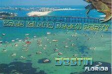 """*Postcard-""""Crab Island Beach Party"""" @ ...Destin, Florida"""