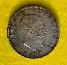 5 LIRE 1878 ROMA  RARO SCUDO VITTORIO EMANUELE II CAT 1/6