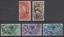 Italy Sc 324-328 used 1934 World Soccer Championship, matching Torino cancels