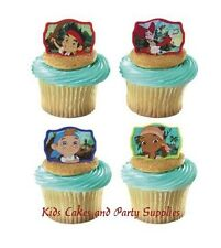 JAKE AND THE NEVER LAND PIRATES CUPCAKE RINGS Party Favors Cake Toppers 24