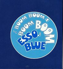 "ESSO BLUE ""BOOM BOOM"" PROMO VINYL STICKER / DECAL OIL VESPA LAMBRETTA SCOOTER"