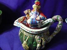 Teapot Santa's Bag of Toys by Nova Studio Woodland Holly Santa JA015 NWT