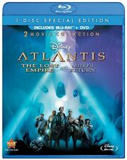 DISNEY : ATLANTIS THE LOST EMPIRE /MILO'S RETURN -  Blu Ray - Sealed Region free