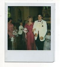 Vintage Polaroid Photo Beautiful Young Woman, Bridesmaid, Usher, 1980's,  Aug15