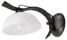 Rustikale Wandleuchte Landhausstil Wandlampe schwarz schmiedeeisen Lampe Leuchte