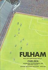Fulham v Chelsea - League Cup Replay - 1985 - Football Programme