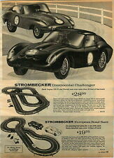 1965 ADVERT Strombecker Jaguar XKE Ferrari Europeon Road Race Formula 4 Slot Car
