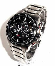 CITIZEN MEN'S ECO-DRIVE $575 ATOMIC TIME, ALARM CHRONOGRAPH WATCH, AT4008-51E