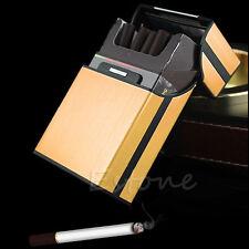 Golden Pocket Aluminum Metal Cigarette Tobacco Cigar Storage Case Box Holder
