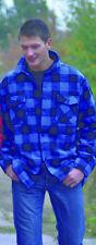 Kanadisches Holzfäller Hemd Größe XL Karohemd Blau - Schwarz kariert