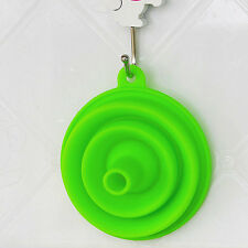 New Mini Silicone Gel Foldable Collapsible Style Funnel Hopper Kitchen Tool