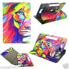 Housse Etui Tablette Polaroid - Rotative 360 ° - 7 Pouces - Motif Lion