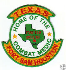 US ARMY POST PATCH, FT SAM HOUSTON, SAN ANTONIO, TX. HOME OF THE COMBAT MEDIC  Y