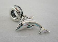 Authentic Genuine Pandora Sterling Silver Playful Dolphin Charm 791541CZ