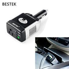 BESTEK 75W Car Power Inverter 2-Port USB Charger Adapter 12V to 110V Converter