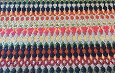 Robert Allen Modern Abstract Stripe Upholstery Fabric- Alpenglow / Cobalt 1.0 yd