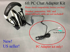 Xbox to PC Chat Adapter/converter kit 4 Turtle Beach X42 X41 X32 X31 PX5 headset