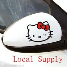 Cute Hello Kitty Pair Cartoon Decal Car Wall Laptop phone Sticker (CS01-026)