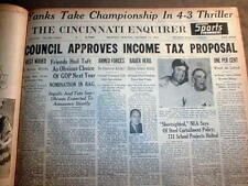 8 1951 headline newspapers NY YANKEES defeat GIANTS to WIN BASEBALL WORLD SERIES