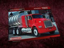 Feuillet fiche technique / Sales sheet brochure KENWORTH T800 2005 //