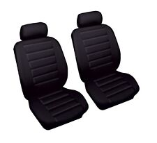 Luxury High Quality Leather Look Black Styling Front Pair of Car Seat Covers