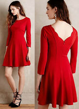 ANTHROPOLOGIE NWT Sunday in Brooklyn Crosstown Dress Fit & Flare Red Sz S $148