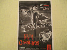 "1962 Night Creatures original! different art! 27""x41"" 1 sheet movie poster VFN"