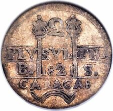 1821 BS Venezuela 2 Reales NGC XF 40 Caracas C-6.2 Rarely Offered in XF