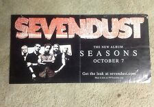 OOP! 24x12pprox PROMO Poster cd album lp SEVENDUST seasons. heavy metal