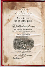 JUDAICA JEWISH PASSOVER PESACH HAGGADAH PRAG 1858 GERMAN TRANSLATION ILLUSTRATED