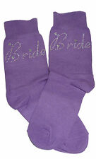 Purple Bride AB Diamonte Crystal Socks