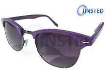 PURPLE RETRO BROWLINE CLUBMASTER WAYFARER SUNGLASSES SUNNIES SHADES AR007