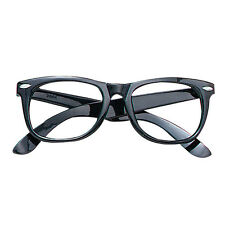 1980s BLACK #FRAME GLASSES SUPERMAN CLARK KENT FANCY DRESS ADULT