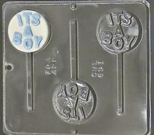 """It's a Boy"" Lollipop Chocolate Candy Mold Baby Shower  691 NEW"