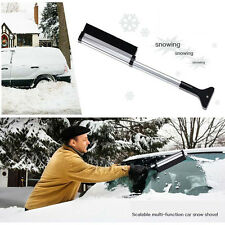 Telescopic Ice Snow Scraper Auto Car Window Retractable Shovel Removal Brush