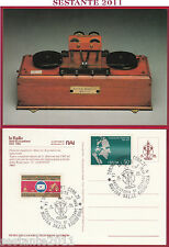 ITALIA MAXIMUM MAXI CARD RADIO STORIA SESSANT'ANNI RAI MARCONI 1984 TORINO C368