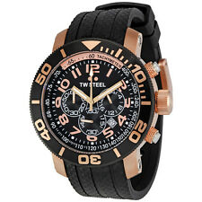 TW Steel Grandeur Diver 45 MM Rose Gold Plated Case Chronograph Mens Watch TW93