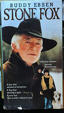 Stone Fox (VHS) Super-rare 1987 TV western movie stars Buddy Ebsen-Joey Cramer
