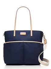 NWT Kate Spade New York Navy Blue kennedy park honey nylon baby diaper bag tote