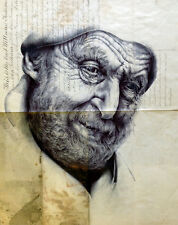 Fine Art Giclee Print:Limited Edition:Bic Biro Drawing:The Will of John Latham